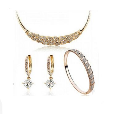 Find More Jewelry Sets Information about New Design Fashion Clear Crystal Zircon Necklace/Hoop Earrings/Bracelet Jewelry Set,High Quality earrings eye,China earings coral Suppliers, Cheap earring necklace from NIBA Jewelry  on Aliexpress.com