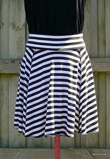 skirt pattern for purchase... Looks like a half to full circle skirt cut into four pieces, serged and a yoga top.