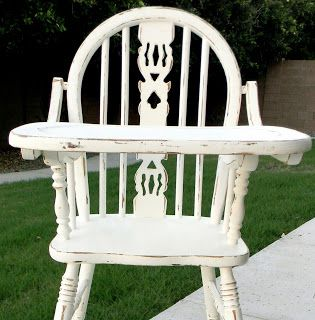 Refinished Antique High Chair