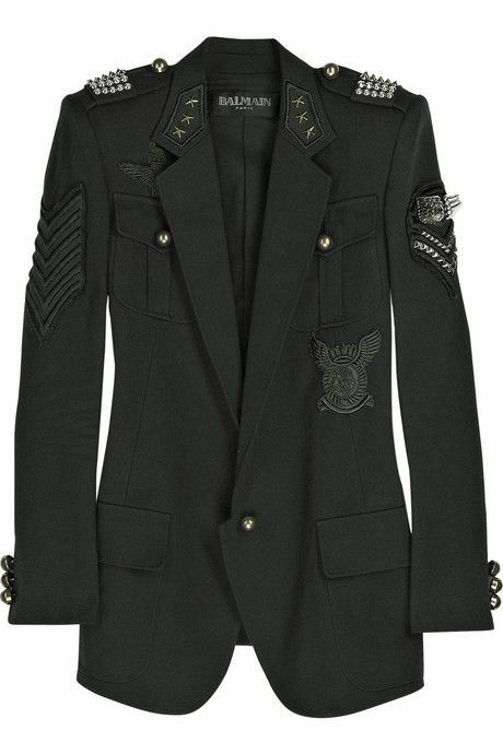 military patch jacket