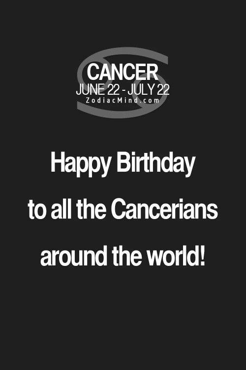 Happy Birthday! Cancer ♋ Zodiac Sign