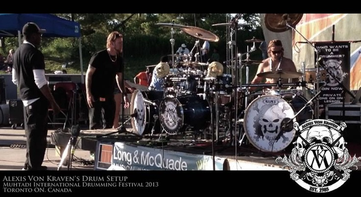 #MIDF 2013 Alexis Von Kraven Drum setup