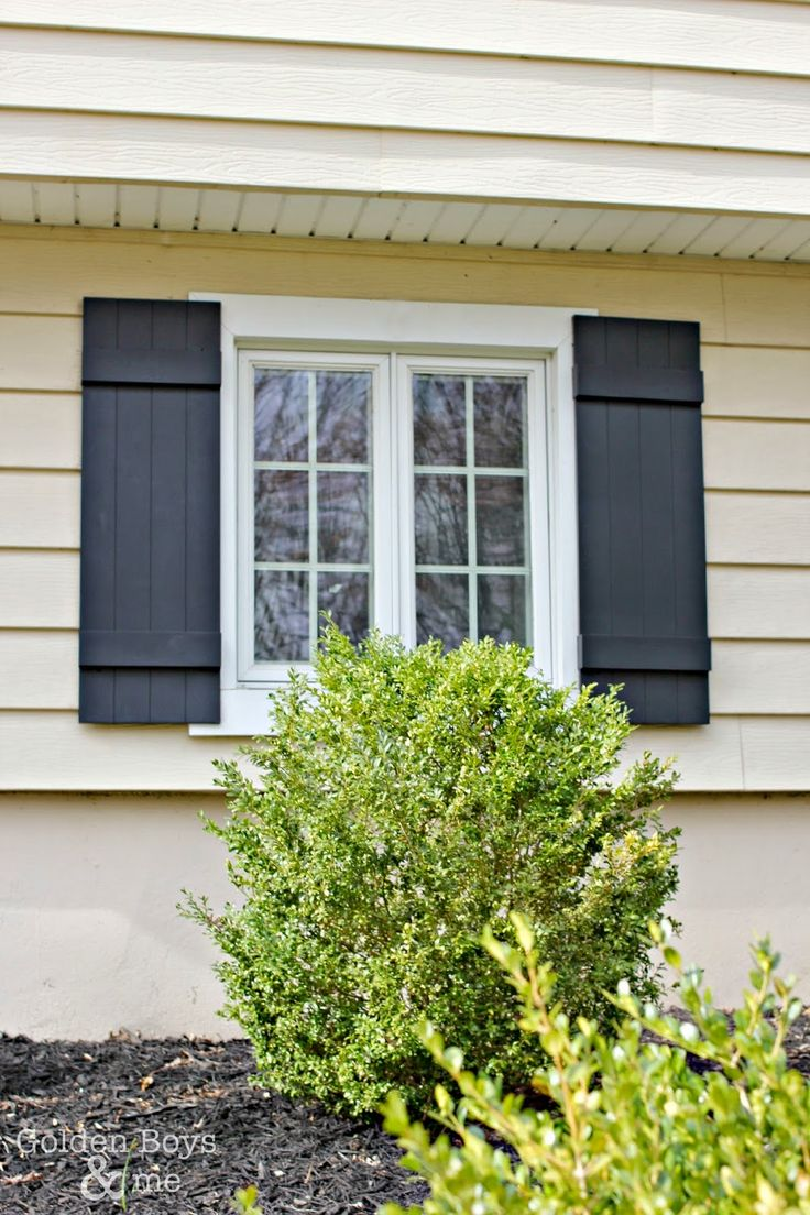 I love the detail of the board and batten shutters and the fact that they are vinyl means they will be easy to maintain.