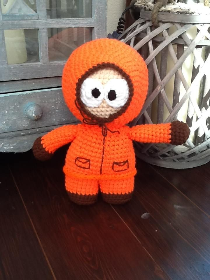 Handmade Kenny McCormick Doll from South Park. Get him here - https://www.facebook.com/CBKnits