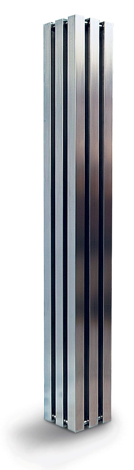 The Aeon Alien (Previously called Aeon Octet) range delivers heat with a style, generations will look upto for years to come. The Aeon Alien is available in both brushed stainless and polished stainless steel. This bold radiator stands tall with its narrow square columns and smooth finish. Available as standard central heating, Electric only and dual fuel. Complete with a 20 year guarantee. Prices from £1891.50!