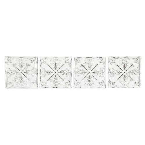 4 fregi in metallo bianchi L 73 cm GENIEVRE