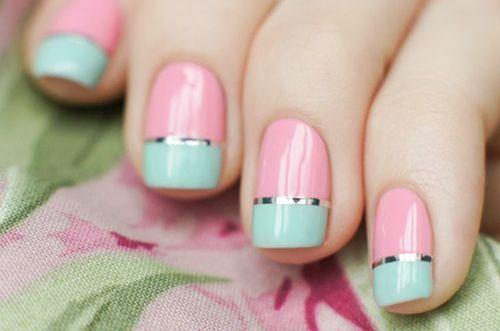 nail design, дизайн ногтей с лентами