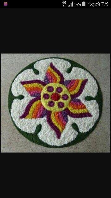 Onam floral rangoli