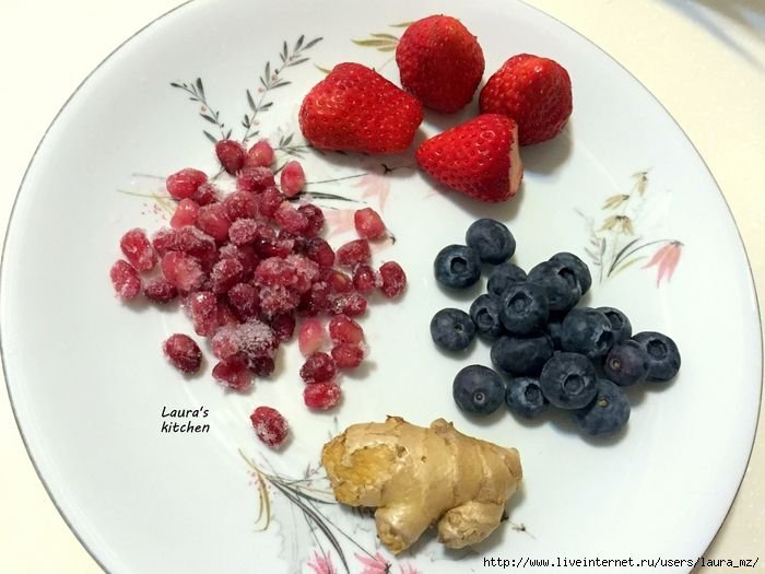 Healthy cooking. My fruit smoothie. Полезный и здоровый смузи на завтрак.