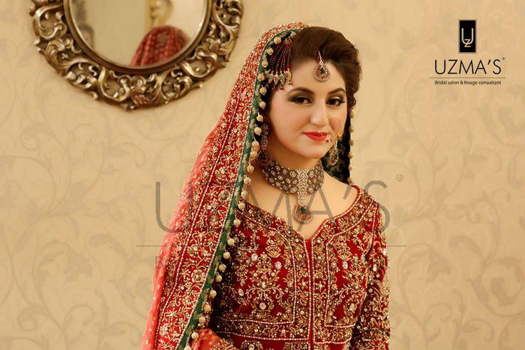 Ravishing traditional bridal makeup at Uzma's