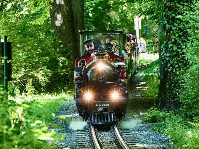 GeschichteIhren Ursprung fand die heutige Dresdner Parkeisenbahn bereits in den 1930er Jahren. Damals fuhren kleine Lokomotiven mit Wagen bei Ausstellungen im Großen Garten, so zum Beispiel zur Internationalen Hygiene-Ausstellung 1930/1931. Die Parkeisenbahn, so wie wir sie heute kennen, wurde am 1. Juni 1950 von den Dresdner Verkehrsbetrieben anlässlich des Kindertages ...