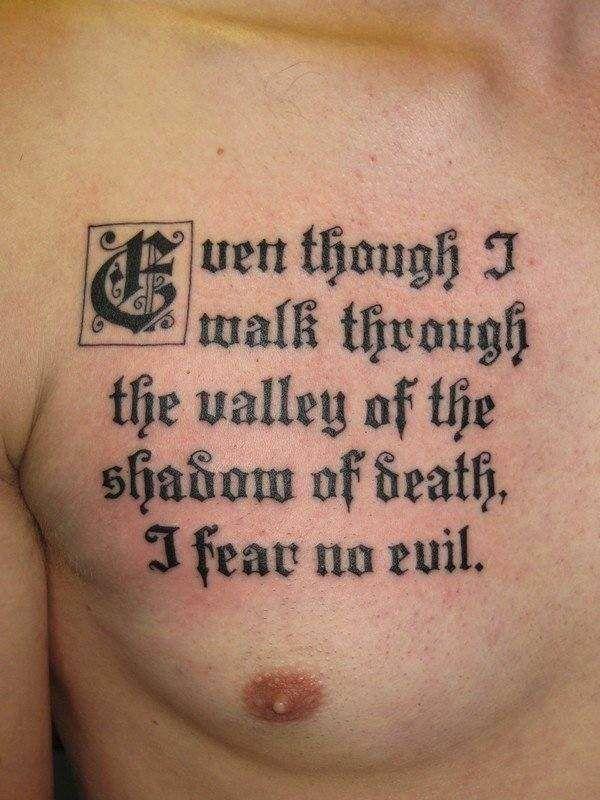 Religious tattoo quotes