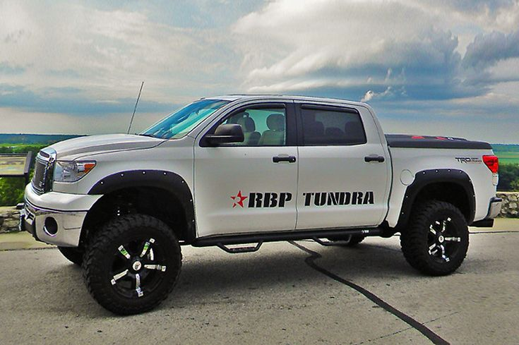 White Toyota Tundra With Rbp 93r Gloss Black With Chrome