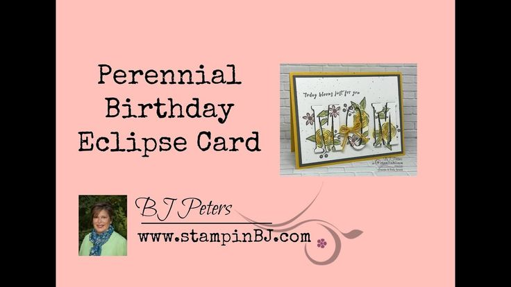 Perennial Birthday Eclipse Card