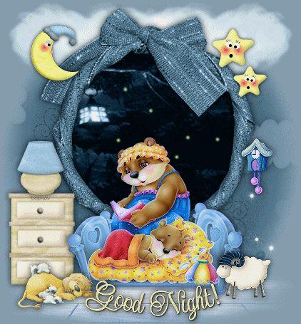 Сладких снов от смурфиков картинки