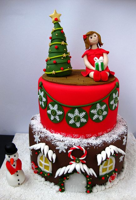 Another Cute Christmas Cake ? Let Us Eat Cake ...