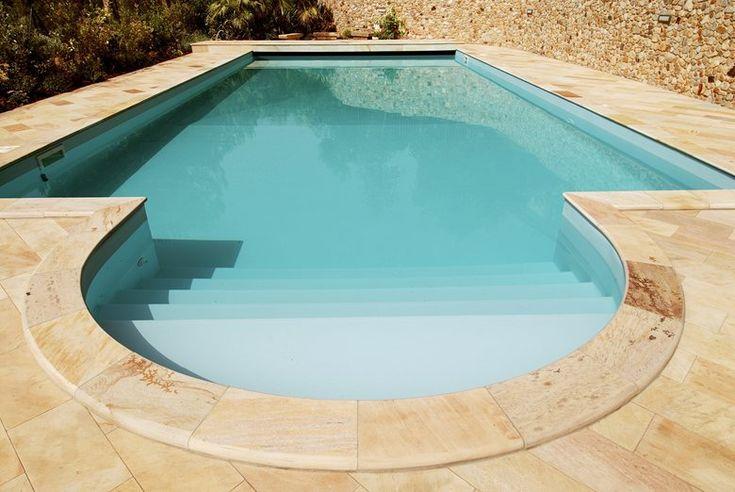 Swimming pool in stone yellow Brazilian quartzite, 2015 - Arte Pietra