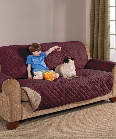Great Another Great Find On #zulily! Wine U0026 Mocha Brushed Microfiber Reversible  Sofa Protector #