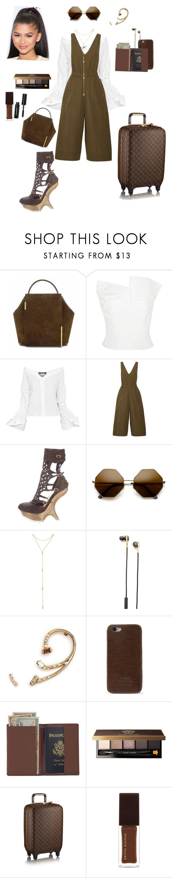 """Private Jet Flights 🛩"" by aurora-cristaux ❤ liked on Polyvore featuring Carmen March, Jacquemus, Ulla Johnson, Alexander McQueen, ZeroUV, Fragments, Caeden, Xiao Wang, J.W. Hulme Co. and Royce Leather"