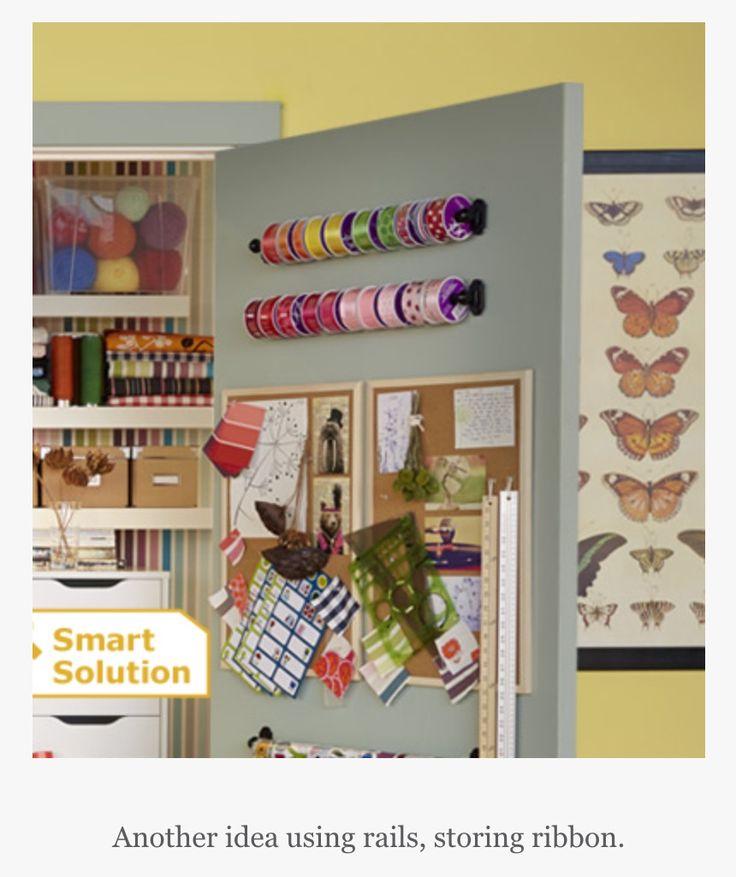 Clever craft storage idea