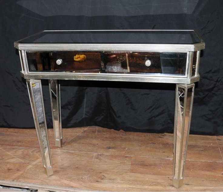 Mirrored Hall Console Table Side Tables Mirror Deco Furniture | eBay
