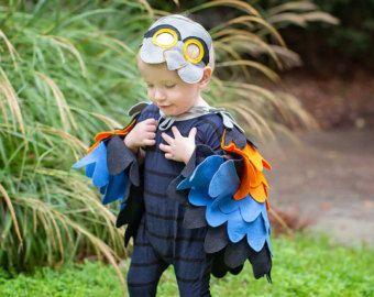 Disfraz de loro para niños alas de pájaro de los por BHBKidstyle