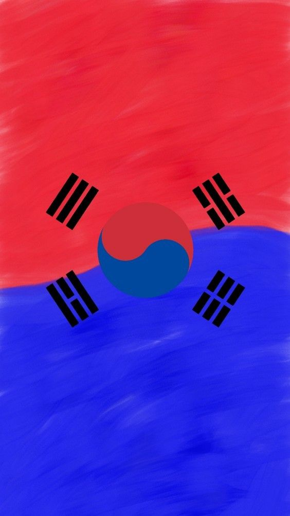 South Korea Flag Wallpaper 대한민국깃발벽지 Korea