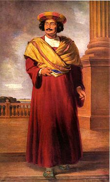 "Raja Ram Mohan Roy-He is best known for his efforts to abolish the practice of sati, the Hindu funeral practice in which the widow was compelled to sacrifice herself on her husband's funeral pyre. It was he who first introduced the word ""Hinduism"" into the English language in 1816. For his diverse contributions to society, Raja Ram Mohan Roy is regarded as one of the most important figures in the Bengal Renaissance."