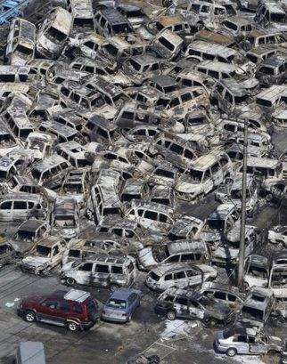 Tsunami Damage In Japan 2011