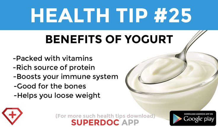 """ Benefits of yogurt """