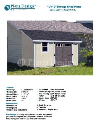 1000 ideas about 10x12 shed plans on pinterest shed for Material list for shed