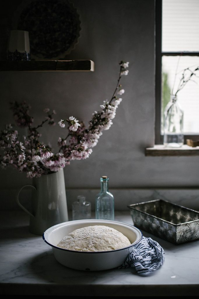 Food photography How to make a photo of proving bread dough look good! Buttermilk honey bread