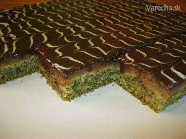 Jablkovo-makový s tmavou čokoládou - Recept