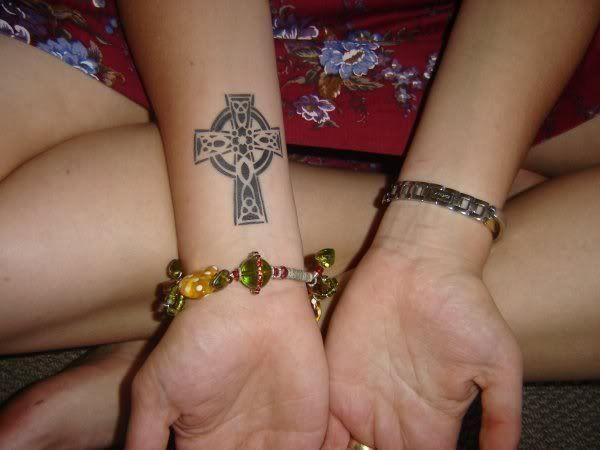 Celtic Cross Cirlce Tattoo On Wrist