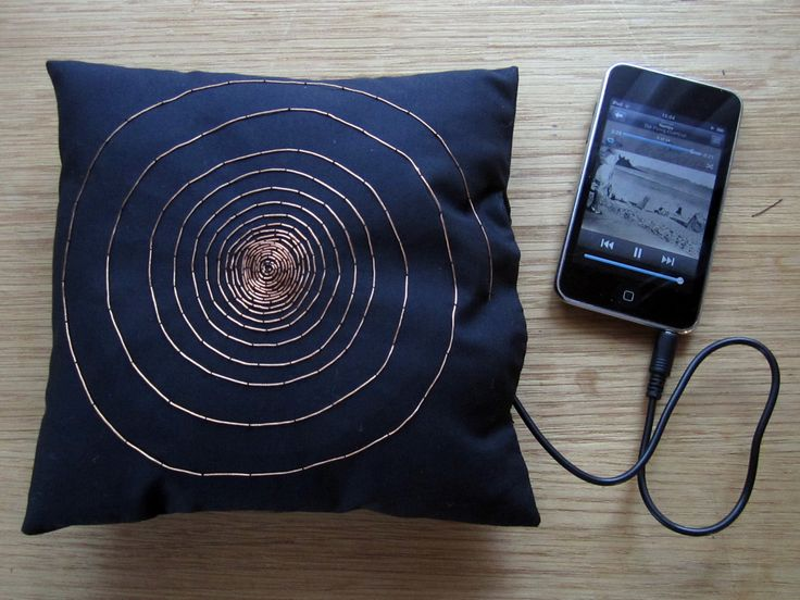 amplified pillow speaker. wow, this is cool