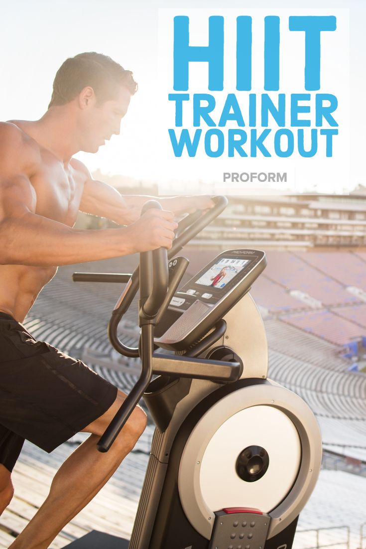 HIIT Trainer workout 💪 ➡️ Slow without