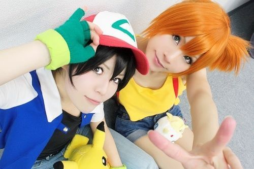 Ash and Misty from Pokemon