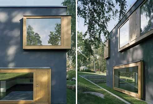 modern bay window house google search roosevelt pinterest window and bay windows. Black Bedroom Furniture Sets. Home Design Ideas