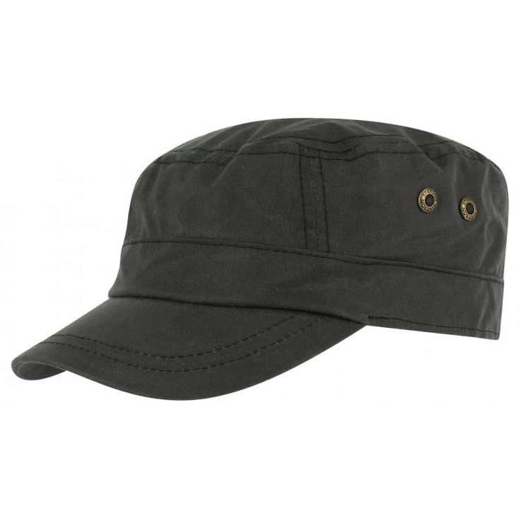 Austin Waxed Cotton Army Cap by Stetson