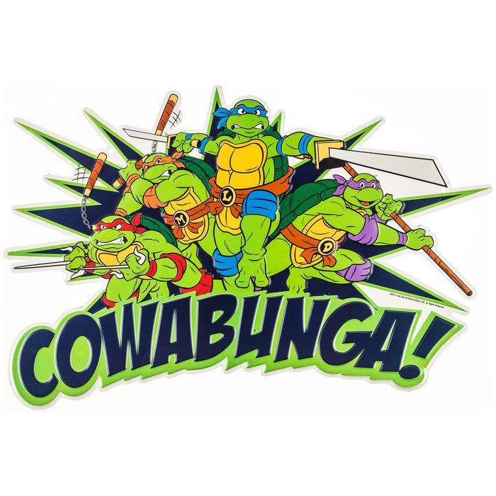 Teenage Mutant Ninja Turtles Cowabunga Embossed Tin Sign