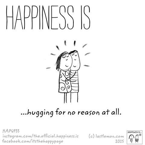 Hugging. #HappinessIs