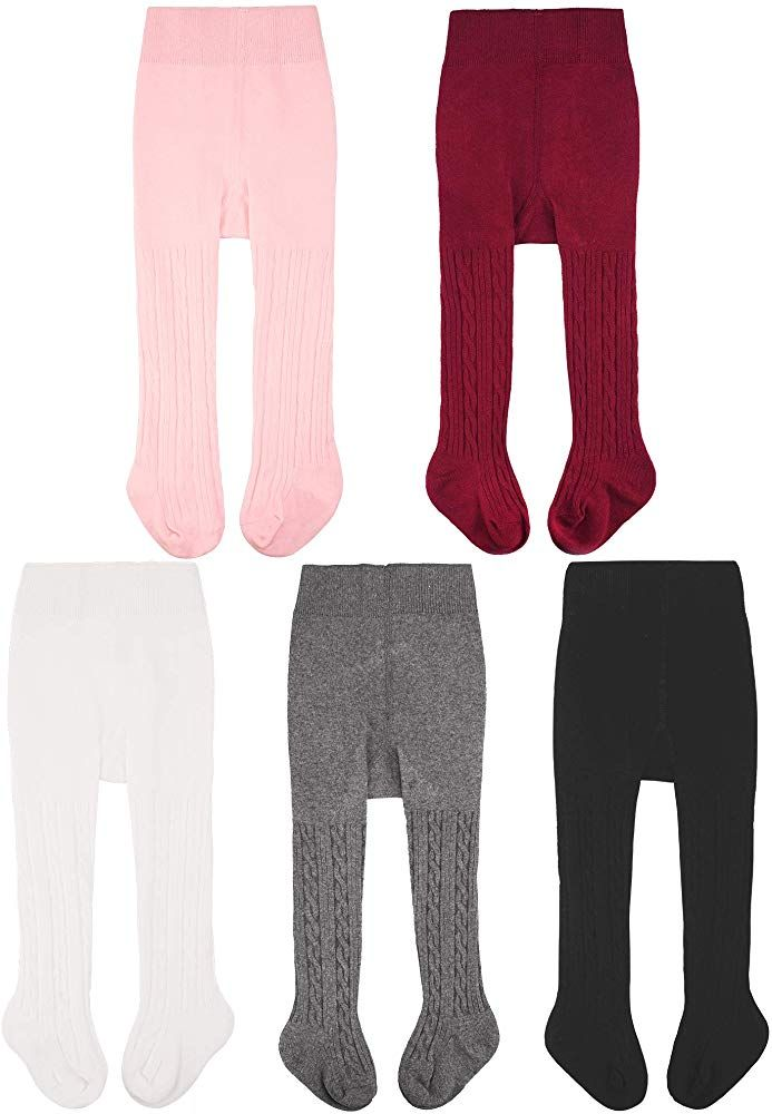 Amazon Com Cozyway Baby Girls Tights Cable Knit Leggings Stockings Cotton Pantyhose Infants Toddlers 6 Mon Baby Girl Tights Toddler Girls Leggings Tight Girls