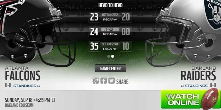 Falcons vs Raiders Live Stream  more ::  http://falconsvsraiderslivestream.co/
