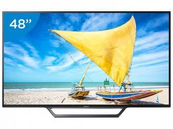 """PROMOÇÃO POR TEMPO LIMITADO = Smart TV LED 48"""" Sony Full HD KDL-48W655D - Conversor Digital Wi-Fi 2 HDMI 2 USB DLNA = de R$ 3.199,00  por R$ 2.599,00 OU  em até 10x de R$ 259,90 sem juros no cartão de crédito   ou R$ 2.417,07 à vista (6% Desc. já calculado.)"""