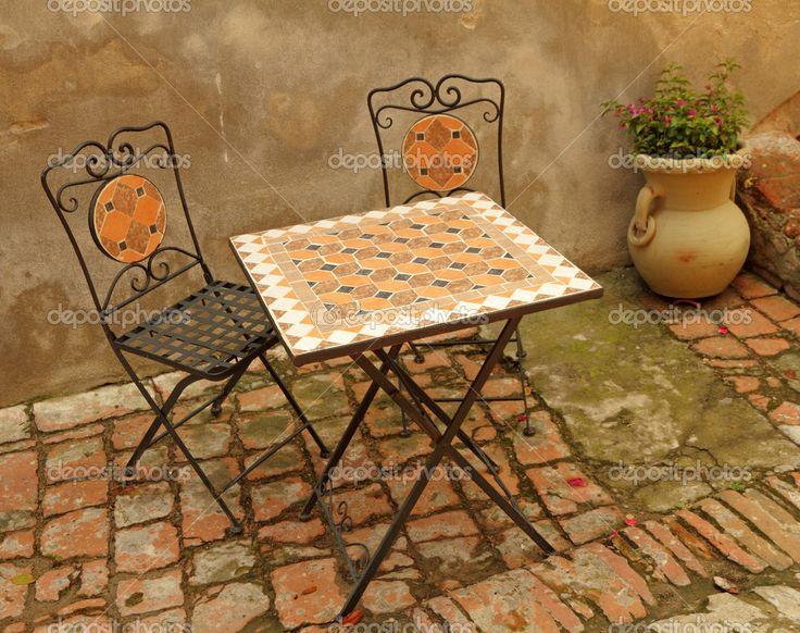 No terraço da Toscana, Itália, Europa
