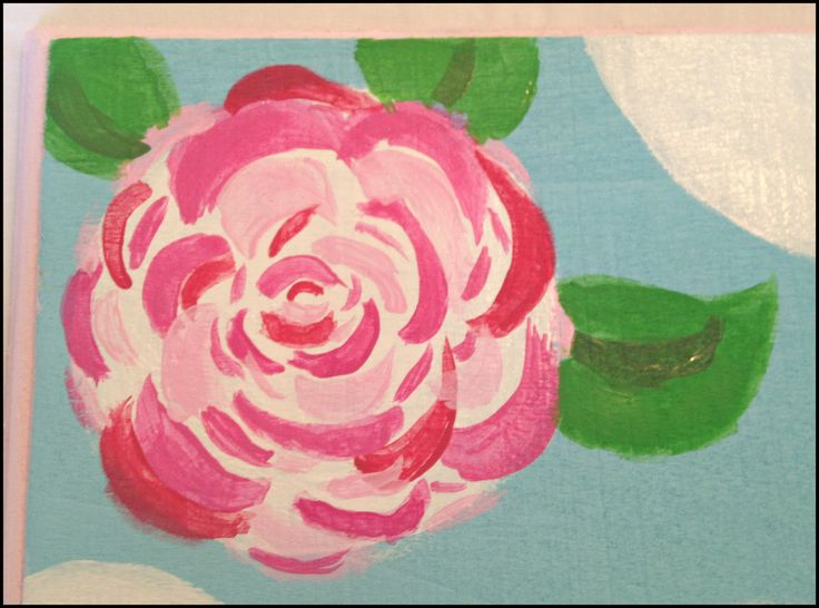 how to paint Lily Pulitzer flowers