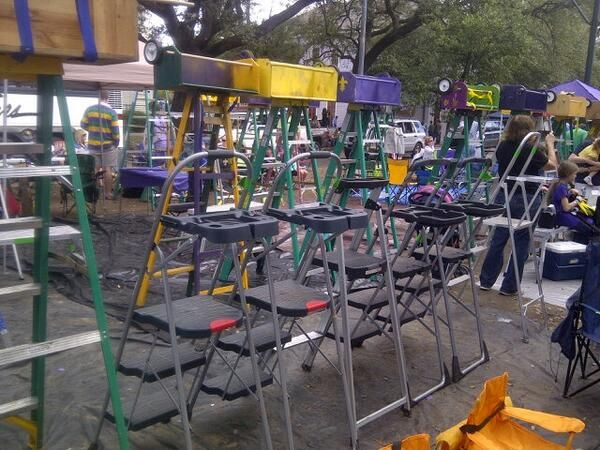 Werner ladders at the Mardi Gras parade