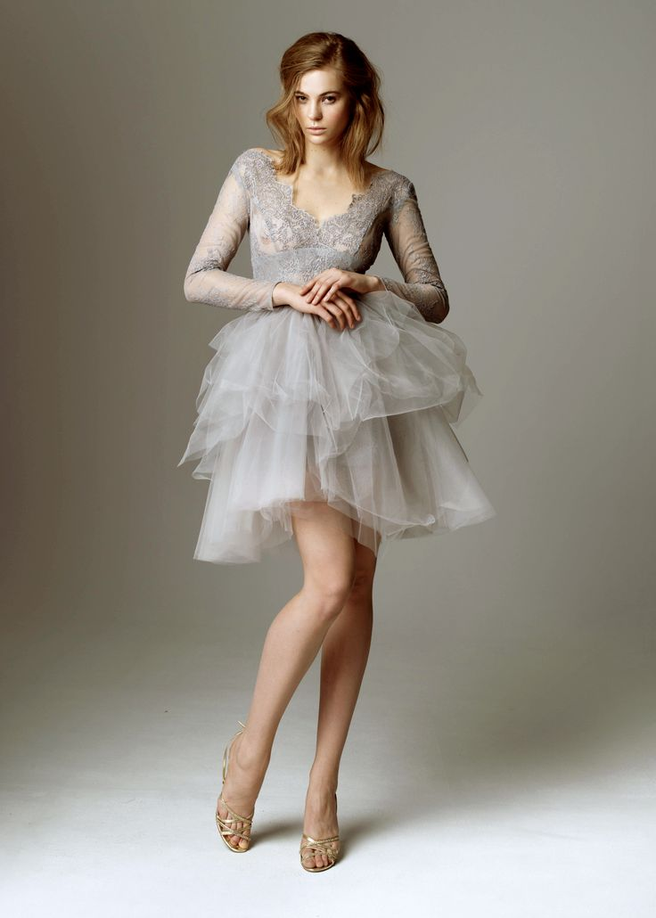 2015 evening collection by Sylwia Kopczynska. Grey - ballerina version