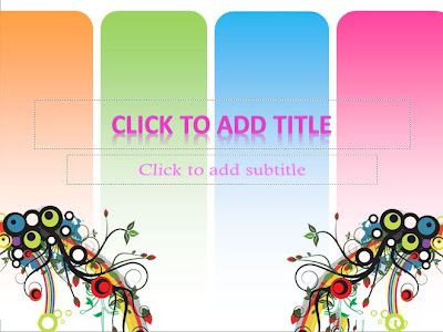 ombined with bright colors, also increase the brightness in your template. The color orange, green, blue and purple indicates that the template is suitable for a unformal presentation. Four colors were a major background in this template with gradations of color on the bottom. It was made in order to make the colors in the background is not too flashy.