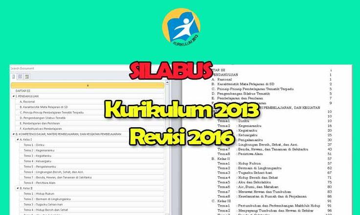 Silabus Kurikulum 2013 SD Lengkap Semua Mata Pelajaran